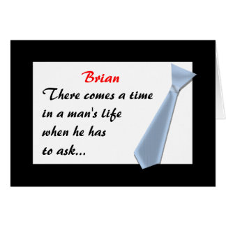 INVITATIONS-Best Man, etc Card
