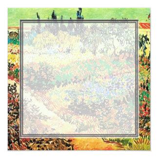 Invitations. Flowering garden with path 13 Cm X 13 Cm Square Invitation Card