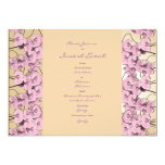 Invitations template - customisable pink orchids