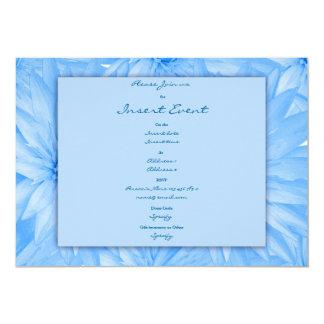 Invitations template - customizable blue lillies