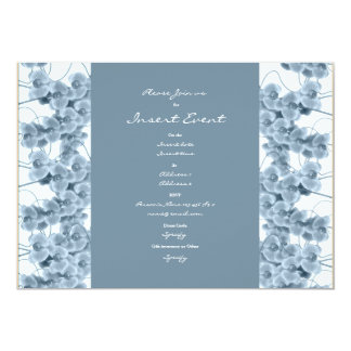 Invitations template - customizable blue orchids