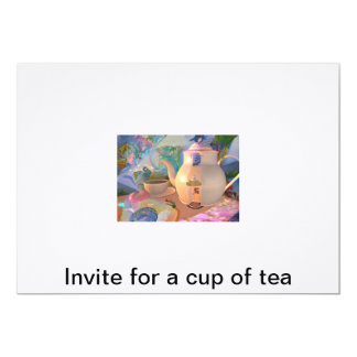 Invite for a cup of tea