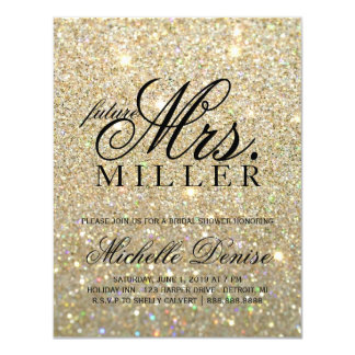 Invite - Gold Glit Fab future Mrs. Bridal Shower 3