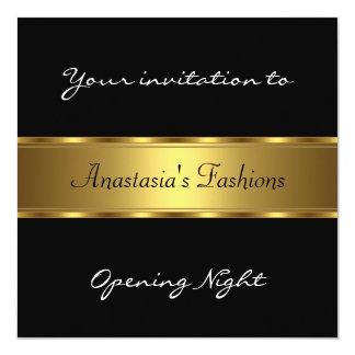 Invite Opening Night Black Gold