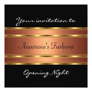 Invite Opening Night Black Gold Copper