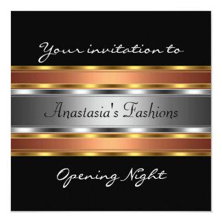 Invite Opening Night Black Gold Copper Silver