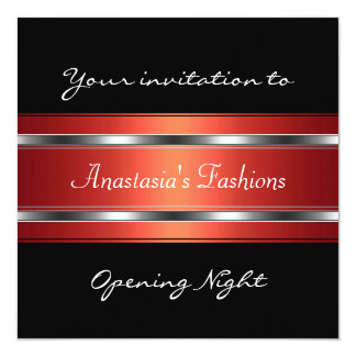 Invite Opening Night Black Red Silver