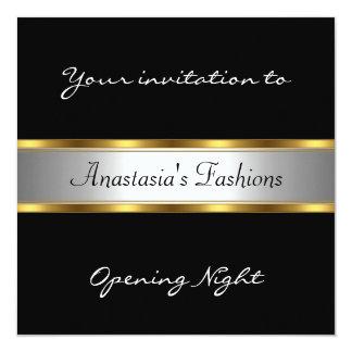 Invite Opening Night Black White Gold