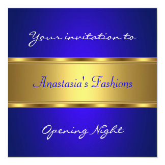 Invite Opening Night Cobalt Blue Gold