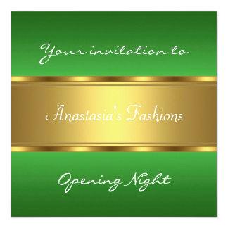 Invite Opening Night Green Gold