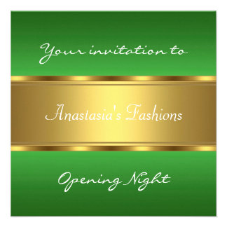Invite Opening Night Green Gold Announcement