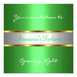 Invite Opening Night Green