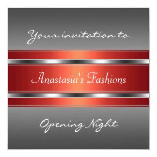 Invite Opening Night Grey Red Silver