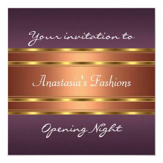 Invite Opening Night Purple Gold Copper