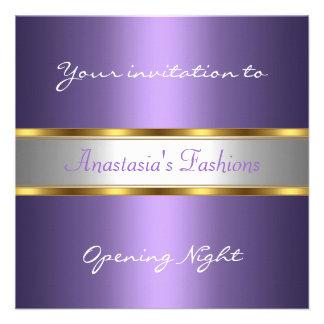 Invite Opening Night Purple Invitations