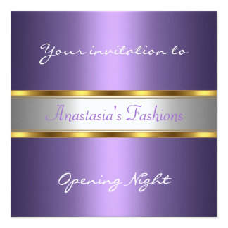 Invite Opening Night Purple