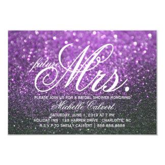 Invite - Purple Lit Nite Bridal Shower future Mrs.