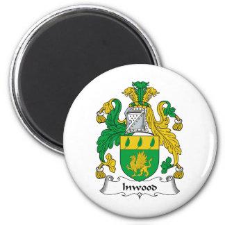 Inwood Family Crest 6 Cm Round Magnet