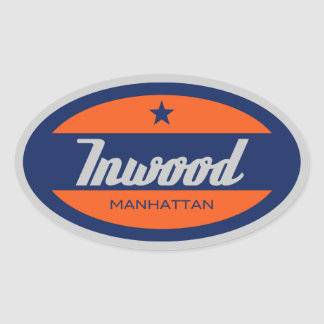 Inwood Oval Sticker