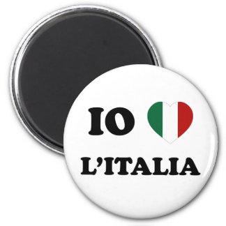 Io Amo Italia 6 Cm Round Magnet