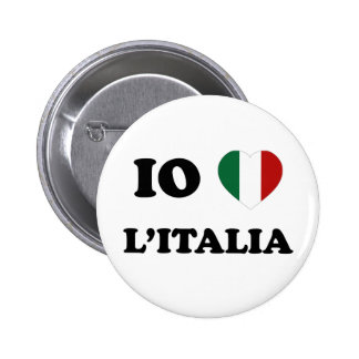 Io Amo Italia 6 Cm Round Badge