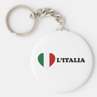 Io Amo Italia Basic Round Button Key Ring
