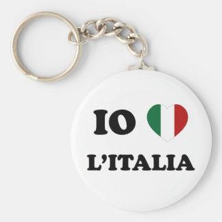 Io Amo Italia Basic Round Button Key Ring
