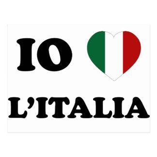 Io Amo Italia Postcard