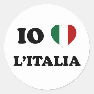 Io Amo Italia Round Sticker