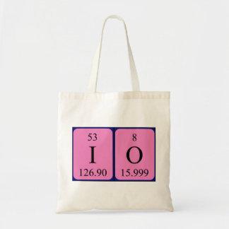 Io periodic table name tote bag