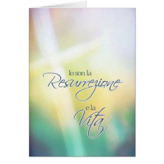 Io son la resurrezione, Italian religious Easter Card