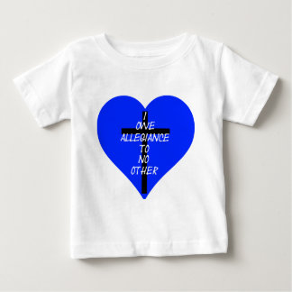 IOATNO Blue Heart And Cross Baby T-Shirt