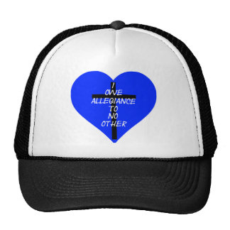 IOATNO Blue Heart And Cross Cap