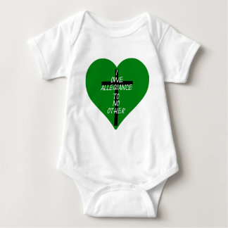 IOATNO Green Heart And Cross Baby Bodysuit