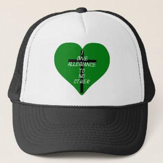 IOATNO Green Heart And Cross Trucker Hat