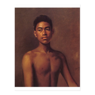 'Iokepa, Hawaiian Fisher Boy', oil on canvas Postcard