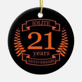 Iolite Gemstone wedding anniversary 21 years Ceramic Ornament