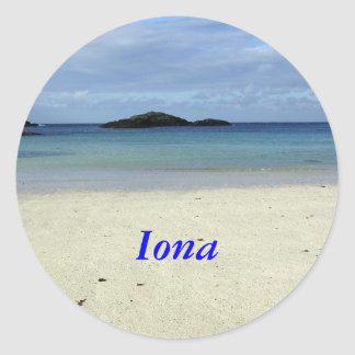 Iona Beach Classic Round Sticker