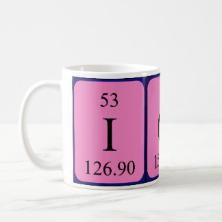 Iona periodic table name mug