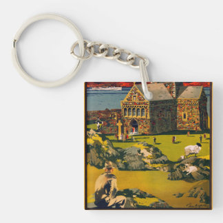 Iona - See this Scotland by MacBrayne's steamers Key Ring