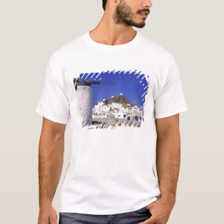 Ios, Greece. The beautful and crisp, white and T-Shirt