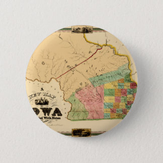 iowa1845 6 cm round badge
