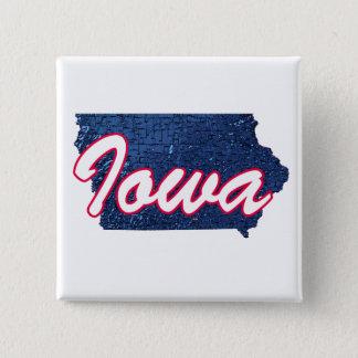 Iowa 15 Cm Square Badge
