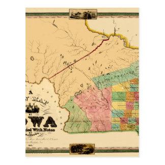 Iowa 1845 postcard