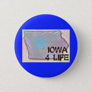 """""""Iowa 4 Life"""" State Map Pride Design 6 Cm Round Badge"""