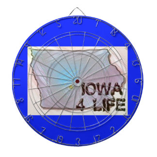 """Iowa 4 Life"" State Map Pride Design Dartboard"