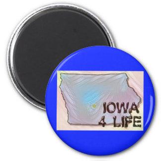 """Iowa 4 Life"" State Map Pride Design Magnet"