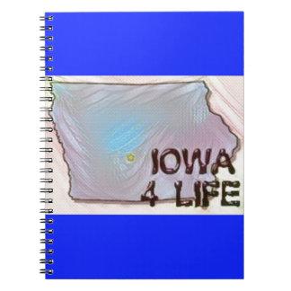 """Iowa 4 Life"" State Map Pride Design Notebooks"