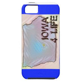 """Iowa 4 Life"" State Map Pride Design Tough iPhone 5 Case"