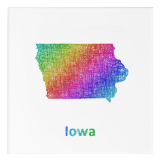 Iowa Acrylic Wall Art